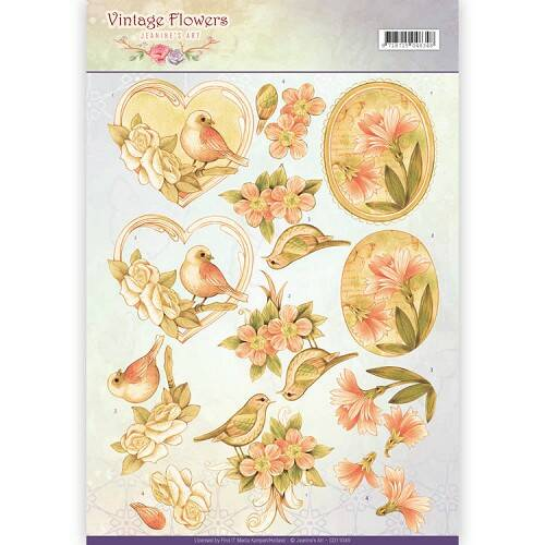 Jeanine`s Art - Vintage Flowers - Pale Vintage  CD11049