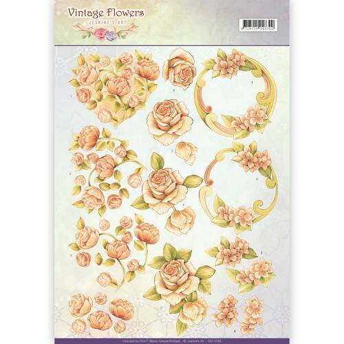 Jeanine`s Art - Vintage Flowers - Romantic Vintage  CD11045