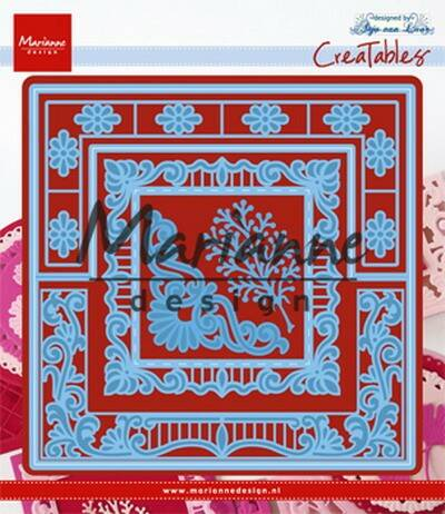 Creatables stencil Anja`s lacy folding die square - LR0553