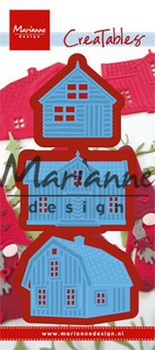 scandinavian houses (set of 3) - LR0555