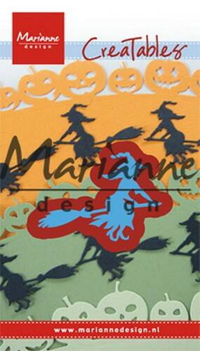 Creatables stencil witch on broomstick - LR0561