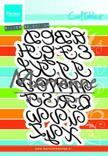Craftables stencil classic alphabet - CR1452