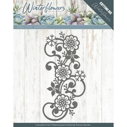 Winter Flowers - Snowflake flower swirl - PM10142
