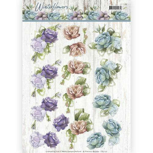 Winter Flowers - Roses - CD11191