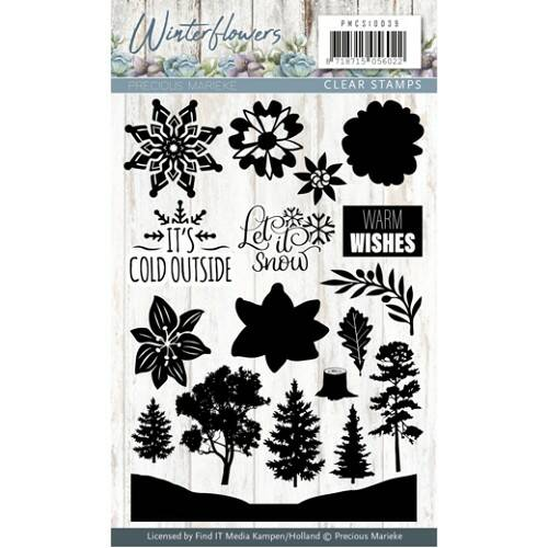 Clearstamp - Winter Flowers - PMCS10039