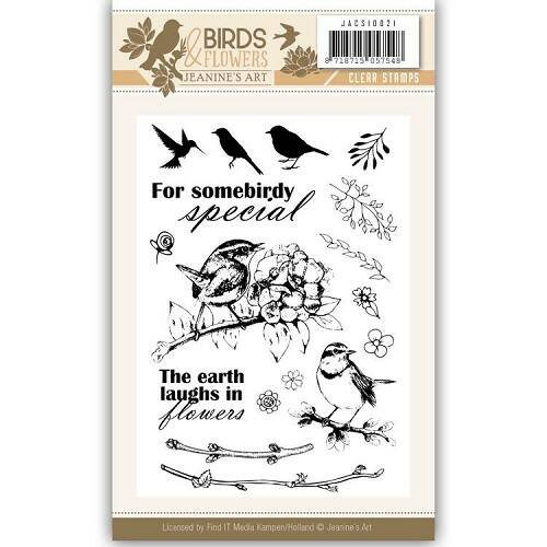 Clearstamp - Jeanine's Art - Birds and Flowers  JACS10021