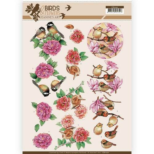 Jeanine`s Art - Birds and Flowers - Pink birds  CD11221