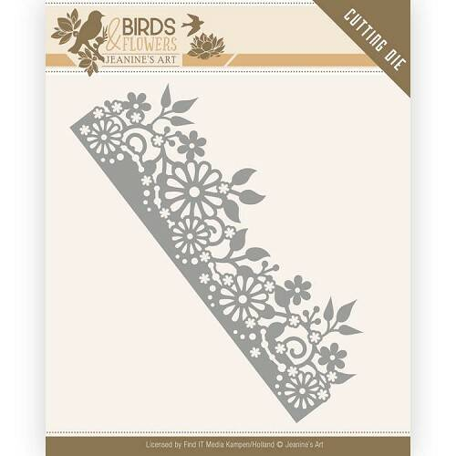 Jeanine's Art - Birds and Flowers - Daisy Border  JAD10058