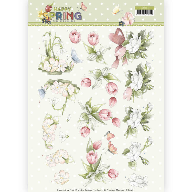 Happy Spring - Happy Spring Flowers - CD11265