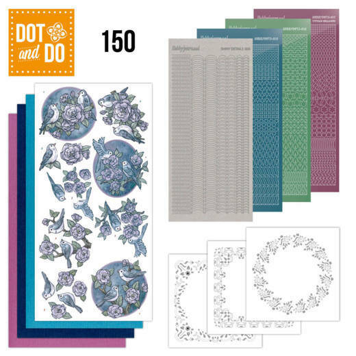 Dot and Do 150 Birds in Purple