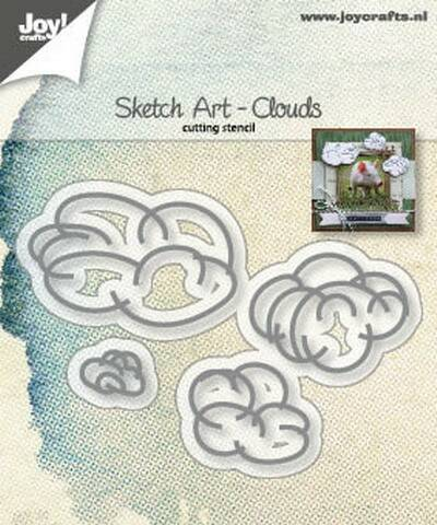 Joy! stencil sketch art wolken - 6002/1244
