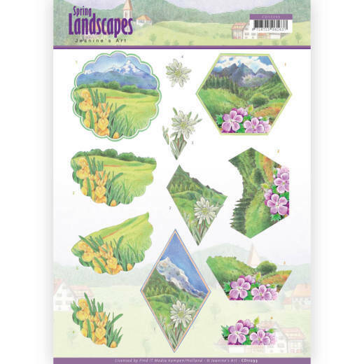 3D knipvel - Jeanine's Art - Spring Landscapes - Mountains - CD11293