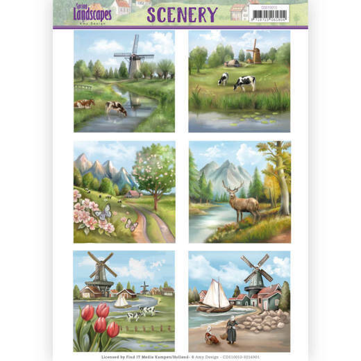 Die Cut Topper - Scenery - Amy Design - Spring Landscapes 1 3D div. - CDS10010