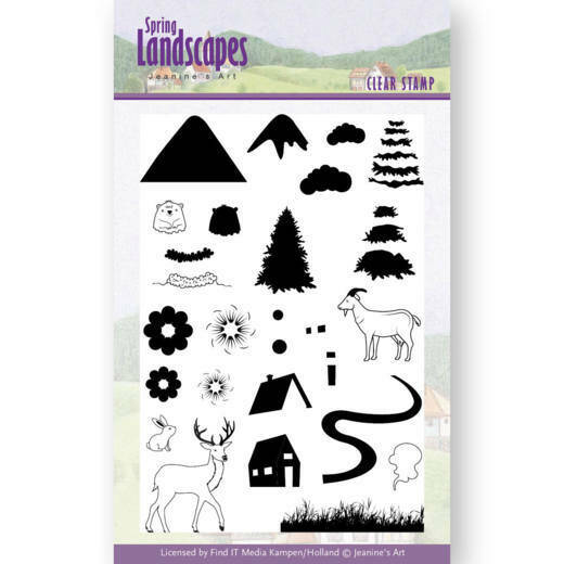Clear Stamps - Jeanines Art- Spring Landscapes Mountains 3D div. - JACS10026
