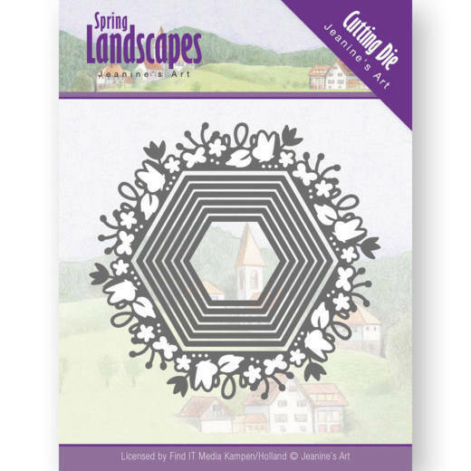 Jeanine's Art - Spring Landscapes - Spring Hexagon - JAD10065