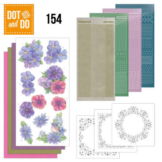 Dot and Do 154 - Pink Flowers