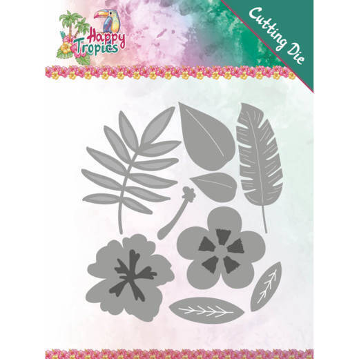 Yvonne Creations - Happy Tropics - Tropical Blooms    YCD10174