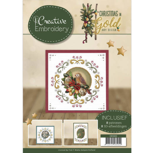Creative Embroidery - Amy Design - Christmas in Gold  CB10003
