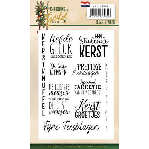 Clear Stamps - Amy Design - Christmas in Gold - Text NL  ADCS10060