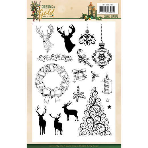 Clear Stamps - Amy Design - Christmas in Gold - Images  ADCS10059