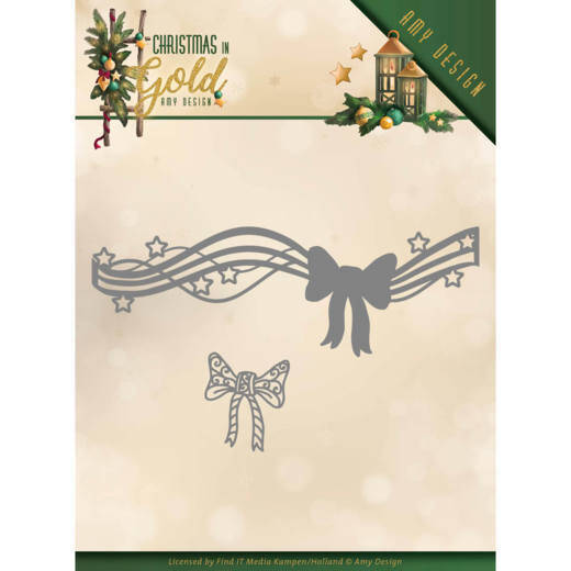 Amy Design - Christmas in Gold - Christmas Bow  ADD10186