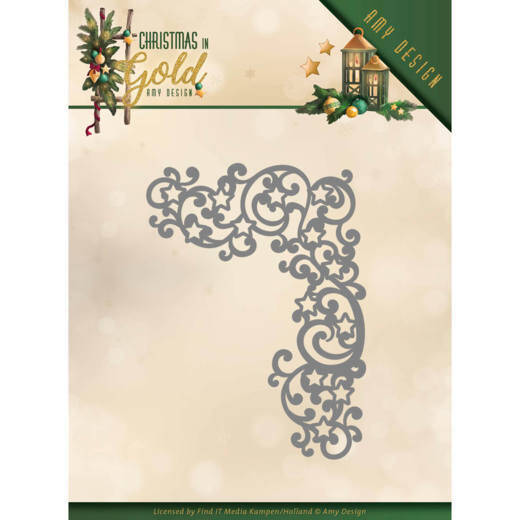 Amy Design - Christmas in Gold - Golden Corner  ADD10185