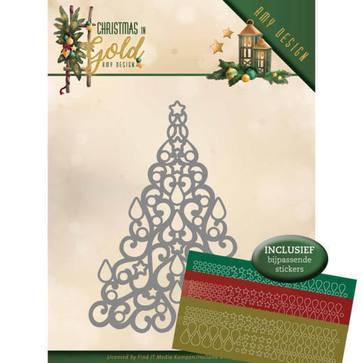 Amy Design - Christmas in Gold - Christmas Tree  ADD10182
