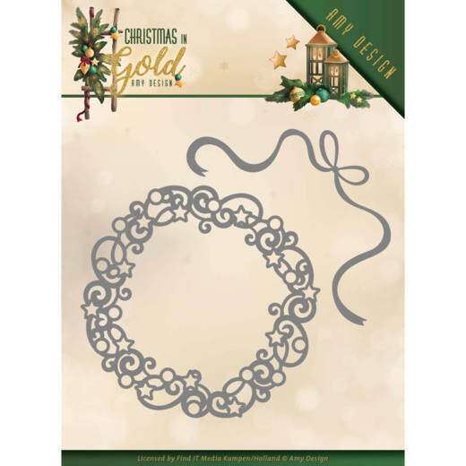 Amy Design - Christmas in Gold - Christmas Wreath  ADD10181