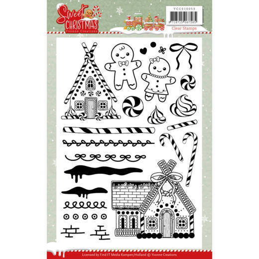 Clear Stamps - Yvonne Creations - Sweet Christmas - YCCS10053