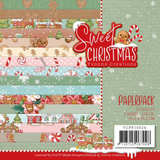 Paperpack - Yvonne Creations - Sweet Christmas - YCPP10026