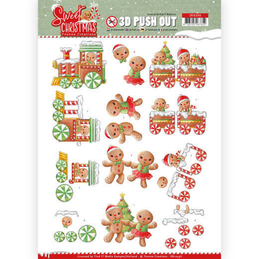 3D Pushout - Yvonne Creations - Sweet Christmas - Sweet Cookies - SB10396