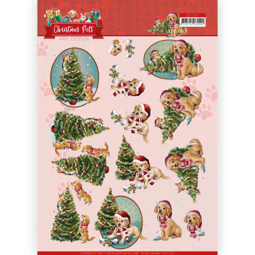 3D Cutting Sheet - Amy Design - Christmas Pets - Christmas Tree  CD11527