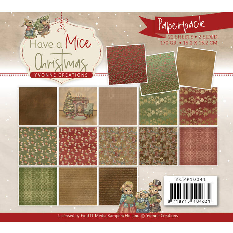 Paperpack - Yvonne Creations - Have a Mice Christmas  YCPP10041