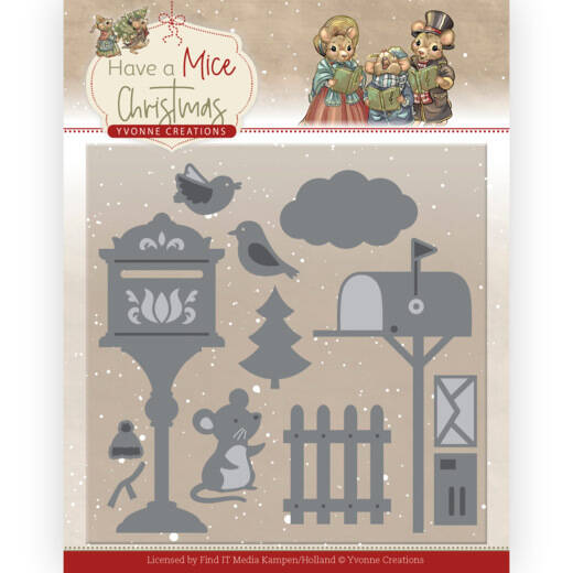 Yvonne Creations - Have a Mice Christmas - Christmas Mouse Letters  YCD10251