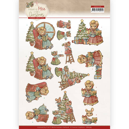 Yvonne Creations - Have a Mice Christmas - Decorating  CD11715