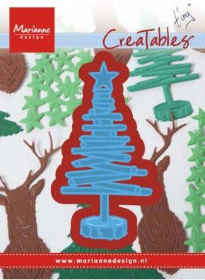 Creatables Tiny's Christmas tree wood - LR0492