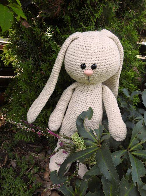XXL Funny Bunny Basic staand of zittend Big Nose linen