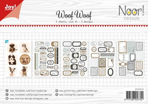labelsheets cuttingsheet Woofwoof - 6011/0417