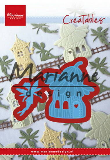 Creatables stencil fairy flower house - LR0579