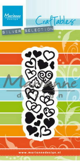 Craftables stencil punch die sweet hearts - CR1460