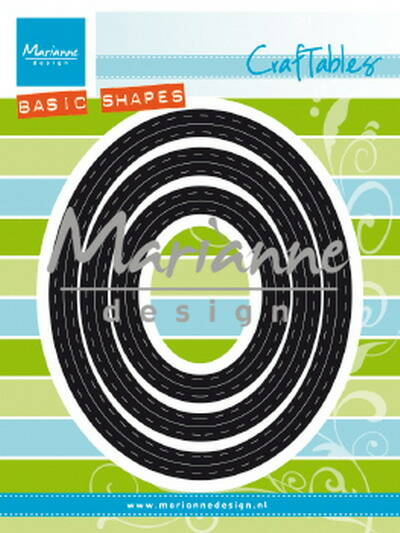 Craftables stencil basic pptouts ovals - CR1467