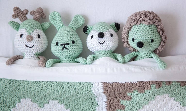 Haakpakket DenDennis Little woodland adventures Amigurumi's Mint