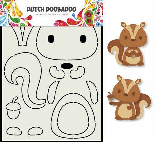 Dutch Doobadoo Card Art Eekhoorn A5 - 470.713.797
