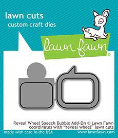 Lawn Fawn Reveal Wheel Speech Bubble Add-On Dies (LF1702)