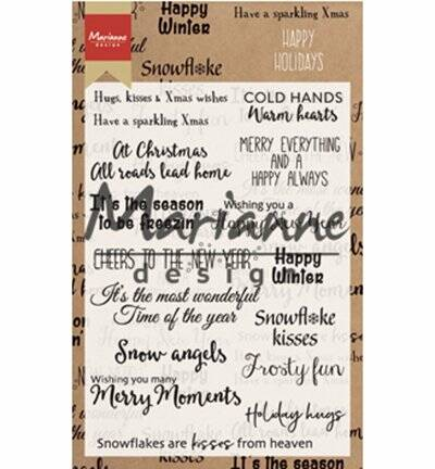 Marianne Design Happy Holidays Clear Stamp - CS1009