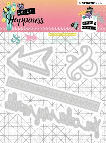 Studio Light Embossing Die Create Happiness nr.156 - STENCILCR156