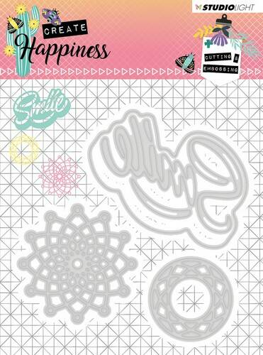 Studio Light Embossing Die Create Happiness nr.157 - STENCILCR157