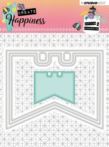 Studio Light Embossing Die Create Happiness nr.154 - STENCILCR154