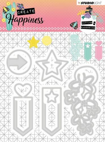 Studio Light Embossing Die Create Happiness nr.155 - STENCILCR155
