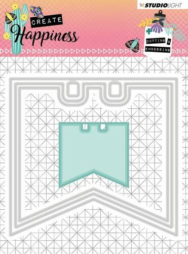 Studio Light Embossing Die Create Happiness nr.153 - STENCILCR153